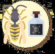 As substâncias contidas no veneno da vespa são pouco conhecidas.