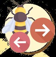 Em repouso, as asas das vespas ficam para cima enquanto as asas...